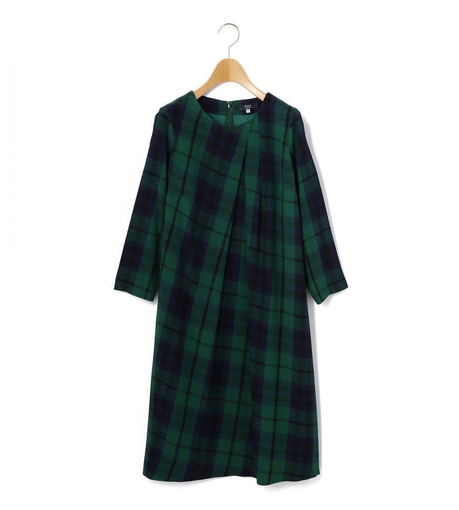 レイヤリングキースチェック ドレス【KEITH】/ファッション・アパレル レディースワンピース【marimekko(マリメッコ)・PAUL & JOE(ポール&ジョー)などのファッションブランド通販サイト 「LOOK @ E-SHOP」(ルック アット イーショップ) 公式通販】/78_1_78174115011