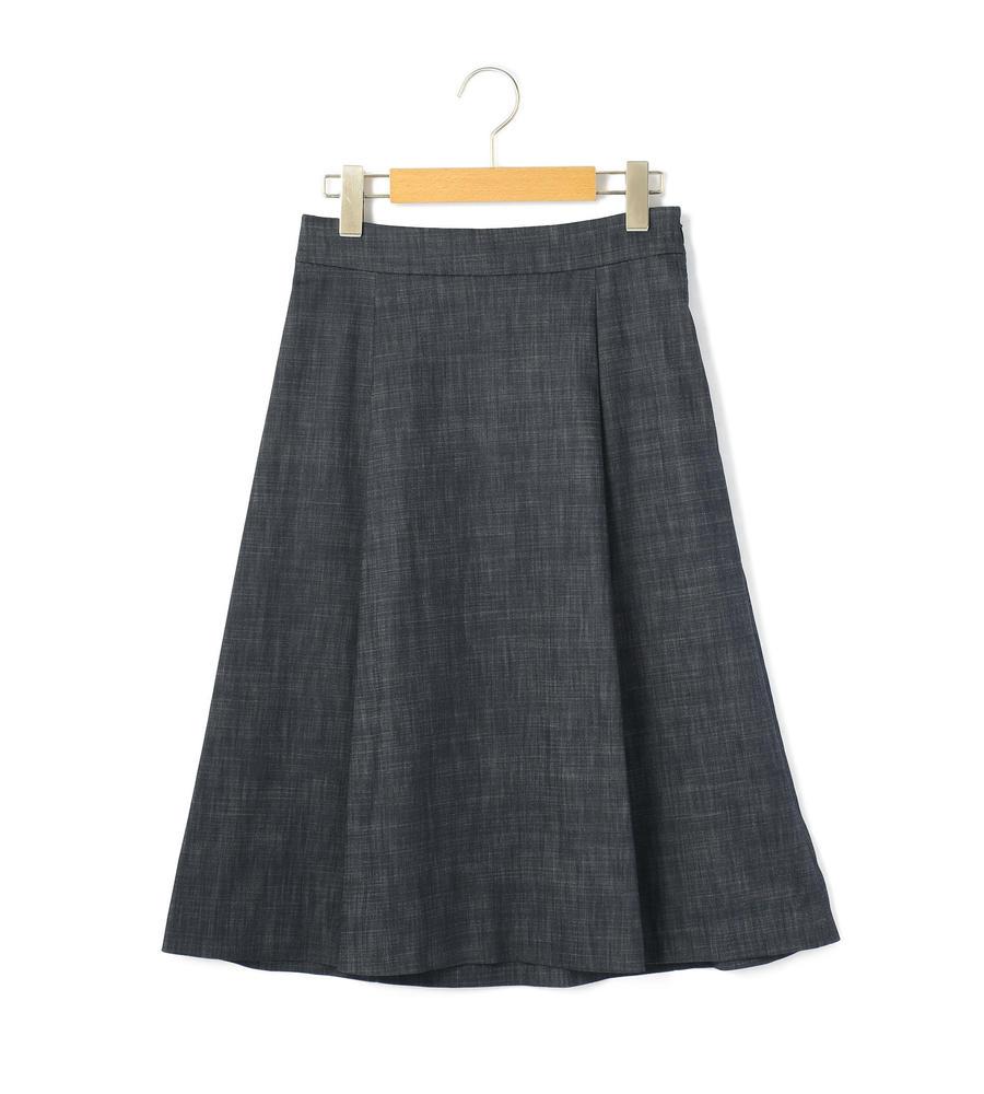 シャンブレーストレッチ スカート