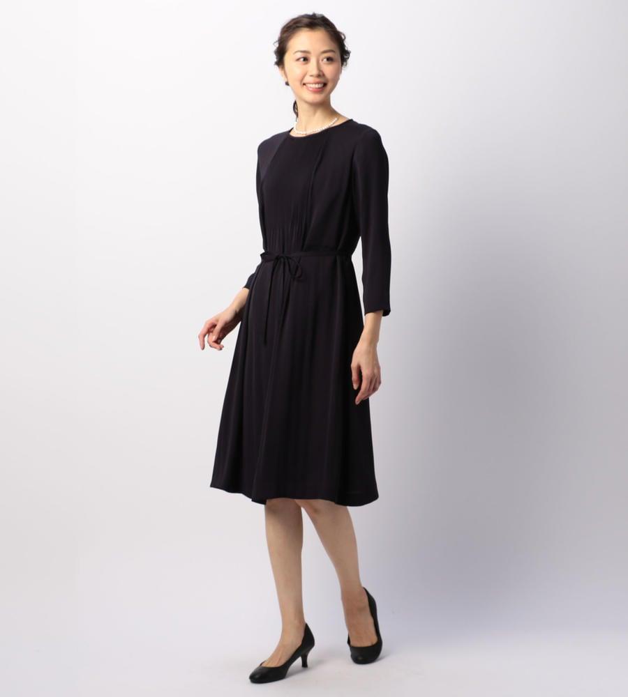 【50size~】サテンジョーゼット ドレス